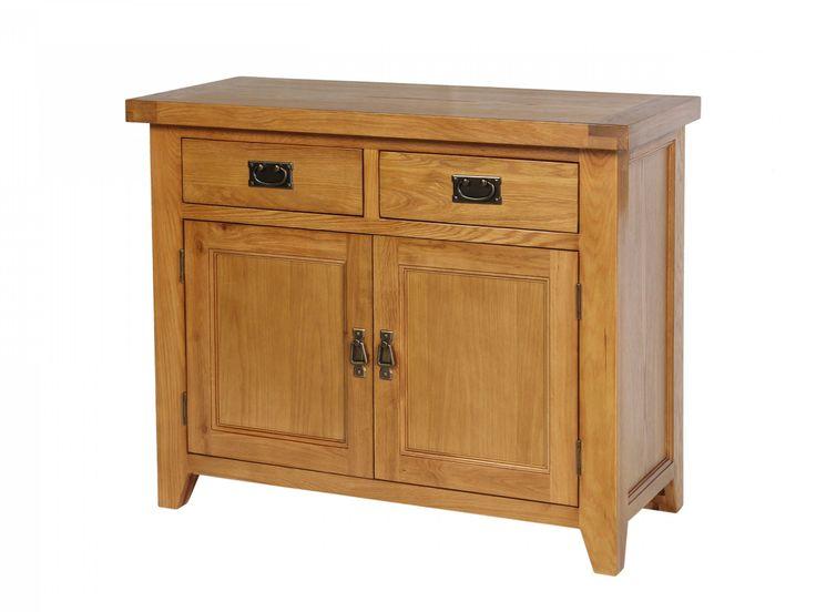 100cm Small Country Oak Sideboard   American Oak Sideboard