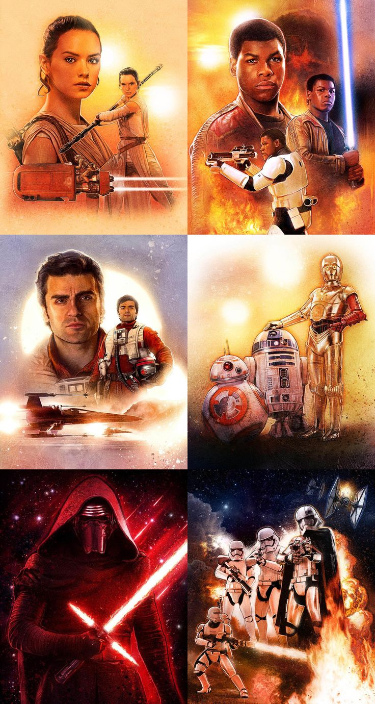 Star Wars: The Force Awakens Character Portraits by Paul Shipper