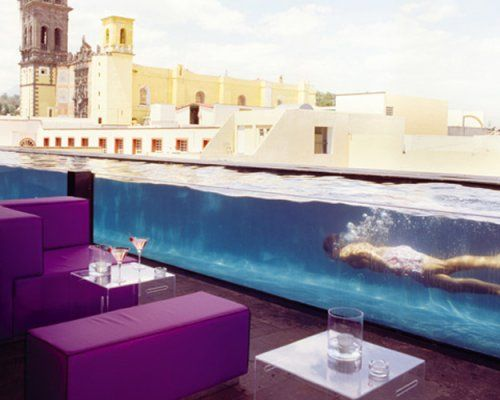 La Purificadora, Puebla, Mexico    Mexican hotelier Carlos Couturier turned a former 19th-century water-purifying center in a colonial city into this minimalist and modern traveler's space.