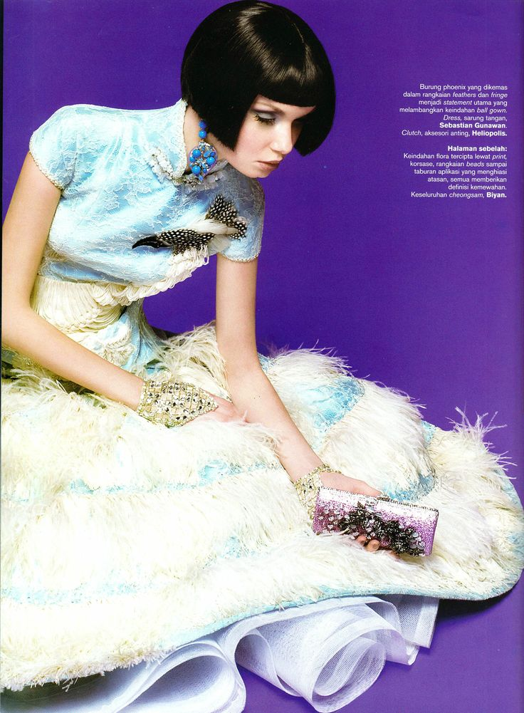 Sebastian Gunawan Couture - Chinoi serie Harper's Bazaar Indonesia  1st edition 2011 Photographer - Adi Nugroho Digital imaging - Angelia Tjong
