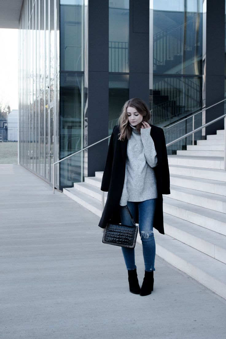 Outfit: Tom Tailor Mantel, Edited Oversized Pullover, Zara Bag & Ankleboots | LITTLE EMMA