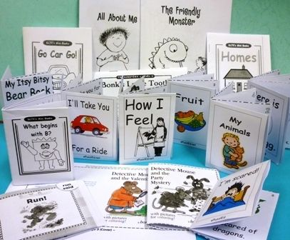 Encourage reluctant readers with their own collection of little, easy-to-read books! Printable mini-books are available for free from various sites (and others for a small donation or by subscription to the sites).