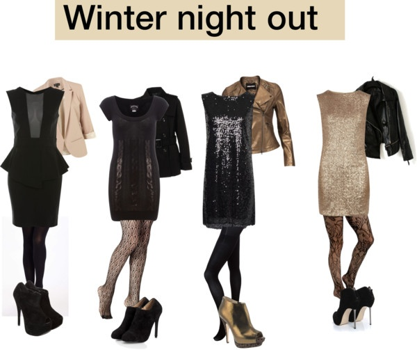 """Winter night out and clubbing"" by myvirtuallife ❤ liked on Polyvore"