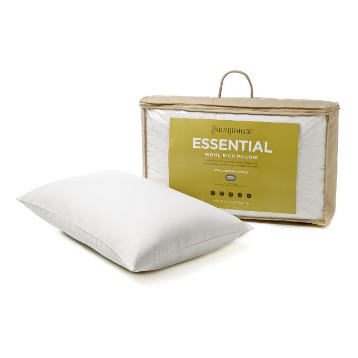 The essential pillow is a great wool blend pillow. It comes in two profiles - Low/Medium and Medium/High to suit all sleepers needs.