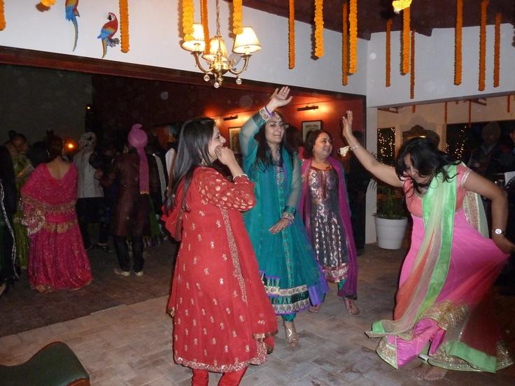 The Sangeet. It's not a party until there's dancing. I've forgotten the name of the dance. Help, anyone?
