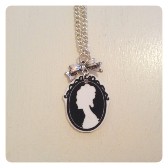 Just added: Cameo with Bow Necklace by catsandwhiskers on Etsy, $19.00