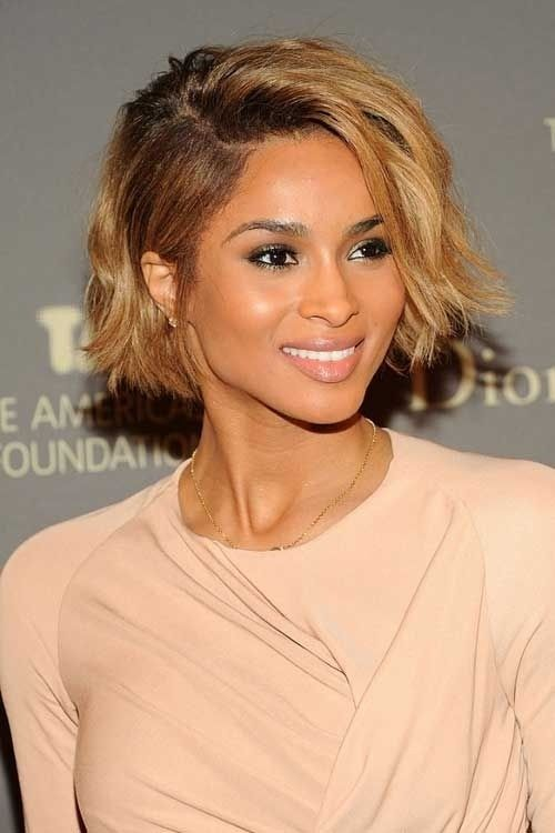 Chic Shaggy Bob Haircut - African American Celebrity Short Hairstyles
