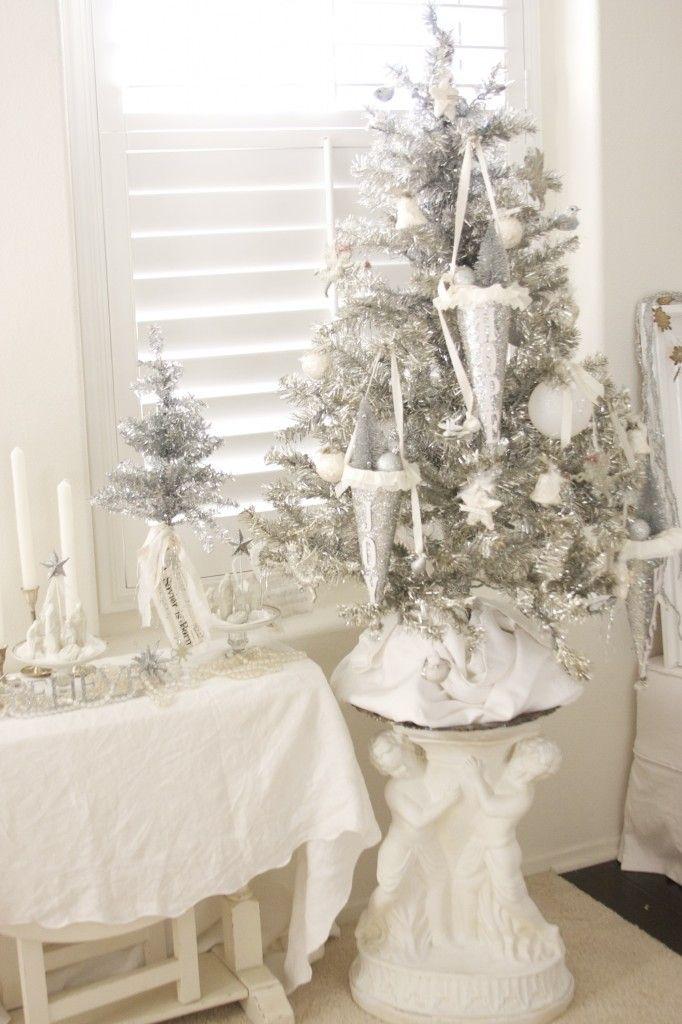 Silver tree Christmas Christmas, Silver christmas, Christmas