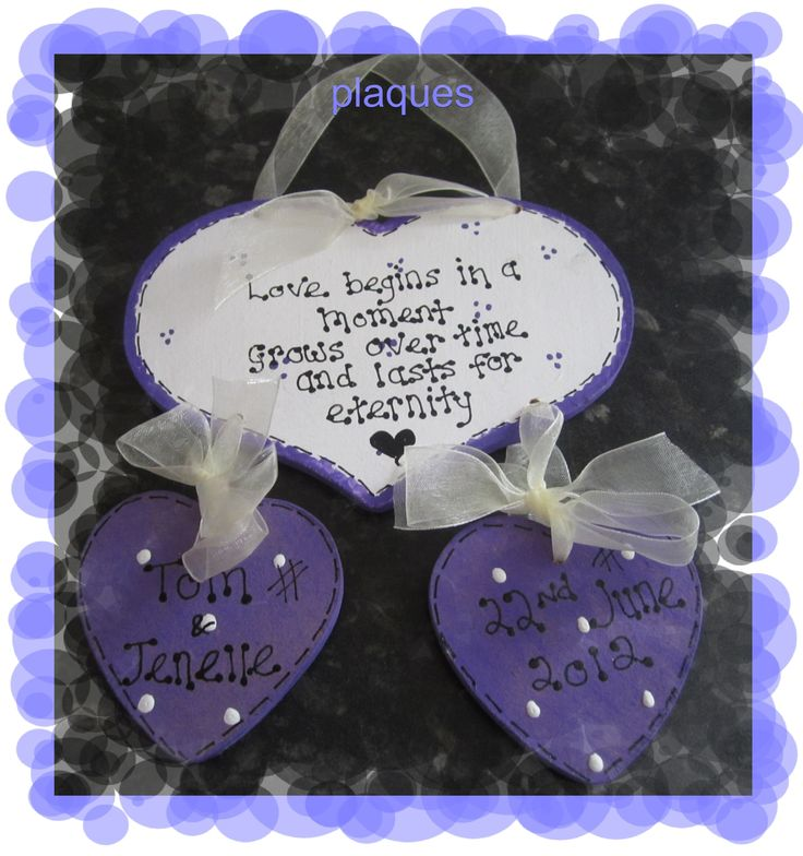 wedding day engagement anniversary personalised gift plaque sign any colour new - The Supermums Craft Fair