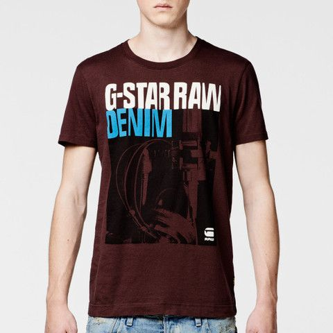 G Star Raw Hitchcock Regular Fit Tee - Dark Fig - Great Gift - Sale Was £31.50 now £25 Free UK P&P