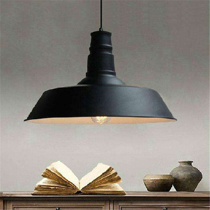 Spedizione-gratuita-loft-industriale-nero-piatto-rotondo-lampada-a-sospensione-illuminazione-d-39-epoca-14-pollice.jpg (1000×1000)