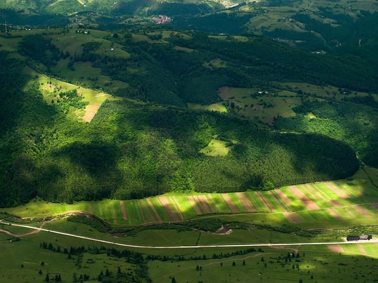 Piatra Craiului peak view.Romania.