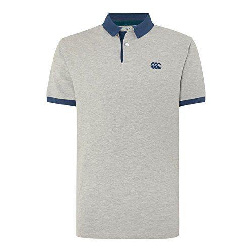 (カンタベリー) Canterbury メンズ トップス ポロシャツ Canterbury Classic CCC Pique Polo Shirt 並行輸入品  新品【取り寄せ商品のため、お届けまでに2週間前後かかります。】 カラー:Silver 素材:100% COTTON PIQUE 230GSM
