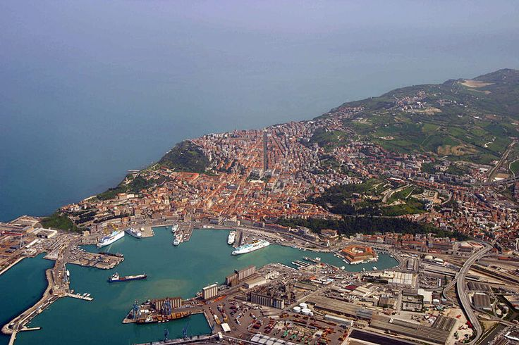 Aerial view of Ancona, Italy