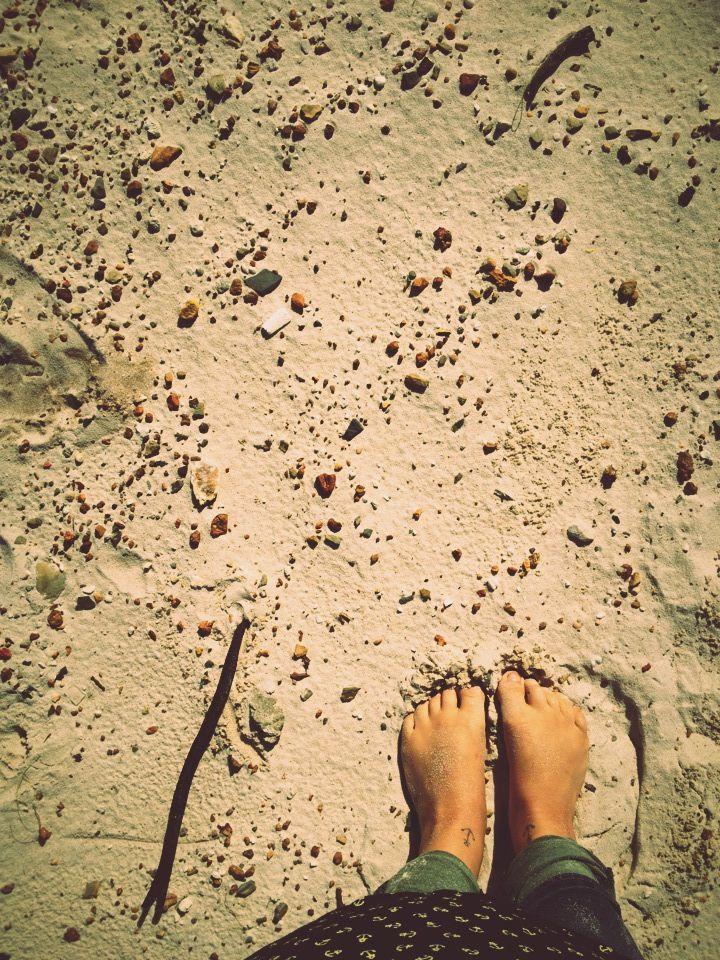 My ugly feet.