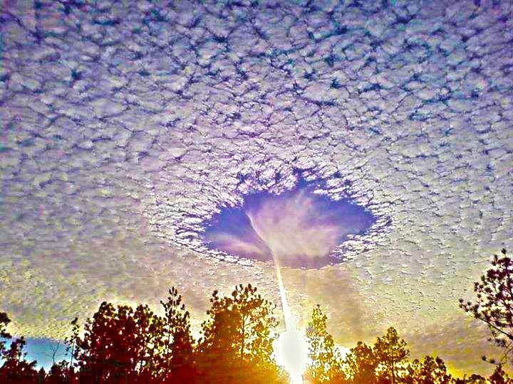 Fallstreak hole, a rare meteorological phenomenon