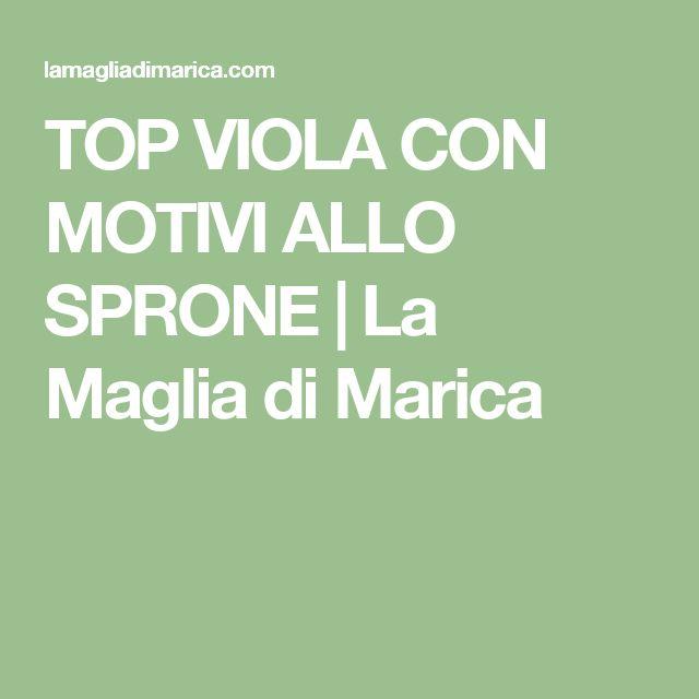 TOP VIOLA CON MOTIVI ALLO SPRONE | La Maglia di Marica