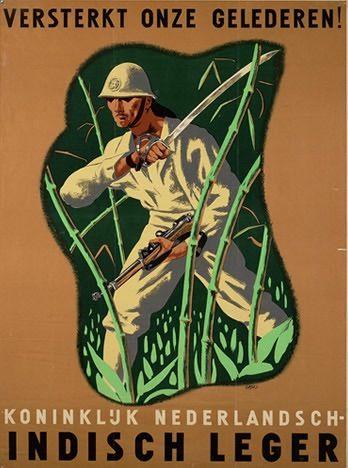 "Dutch WW2 ""Strengthens our ranks! Koninkluk Netherlands. Indian Army."""