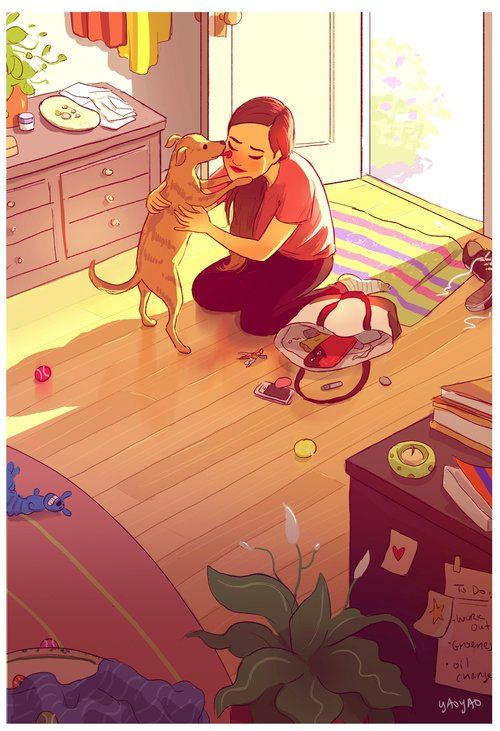 Warmest Welcome After A Tough Day  Yaoyao Ma Van As Illustration/ Animation      Home