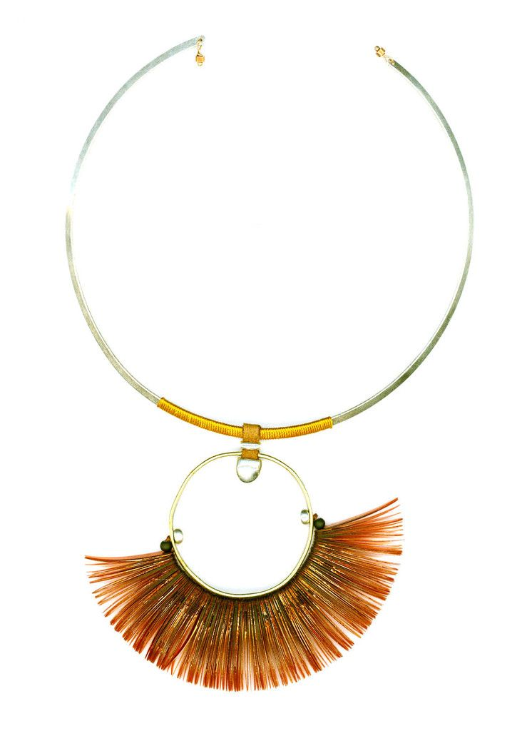 LIGHT BROWN GOLD RING NECKLACE