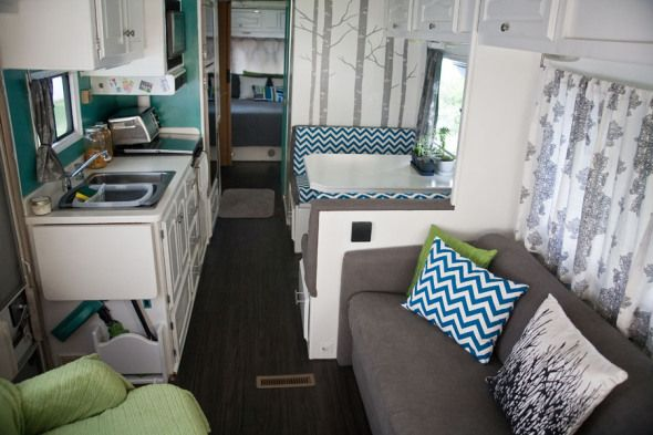 Rv Remodel Gonna Do Something Like This When We Get An Rv Rv Renovation Pinterest Campers