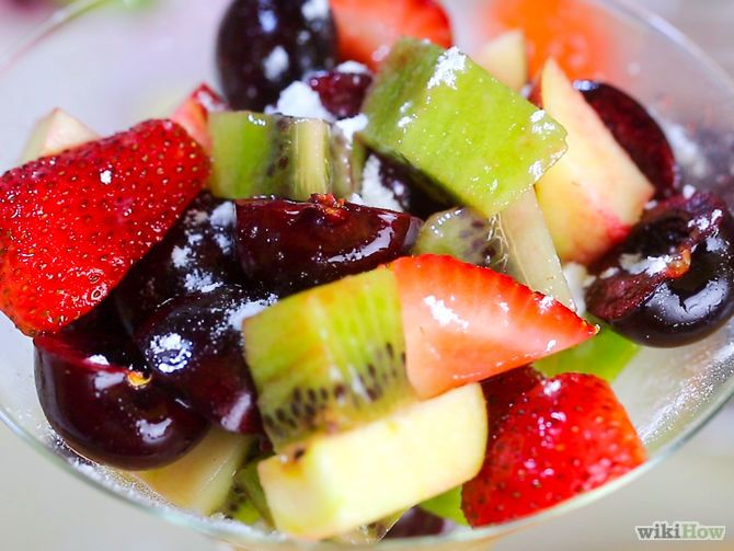 Easy Fruit Salad Recipe. I would always use the orange juice method as it stops the fruit from browning. Works well with apple juice too!