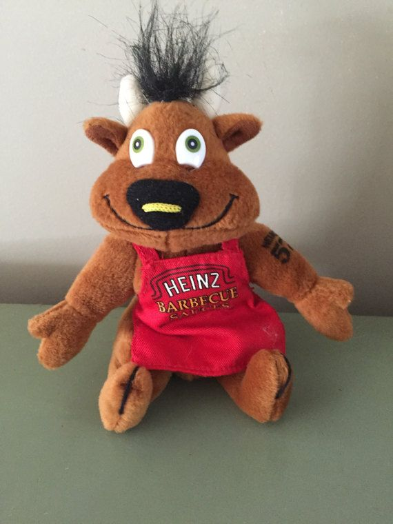 Vintage Stuffed Animal Heinz Barbecue Sauce Cow Bull