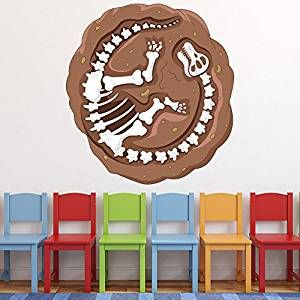 Dinosaurier Skelett Wandaufkleber Dino Wandtattoo Kinderzimmer