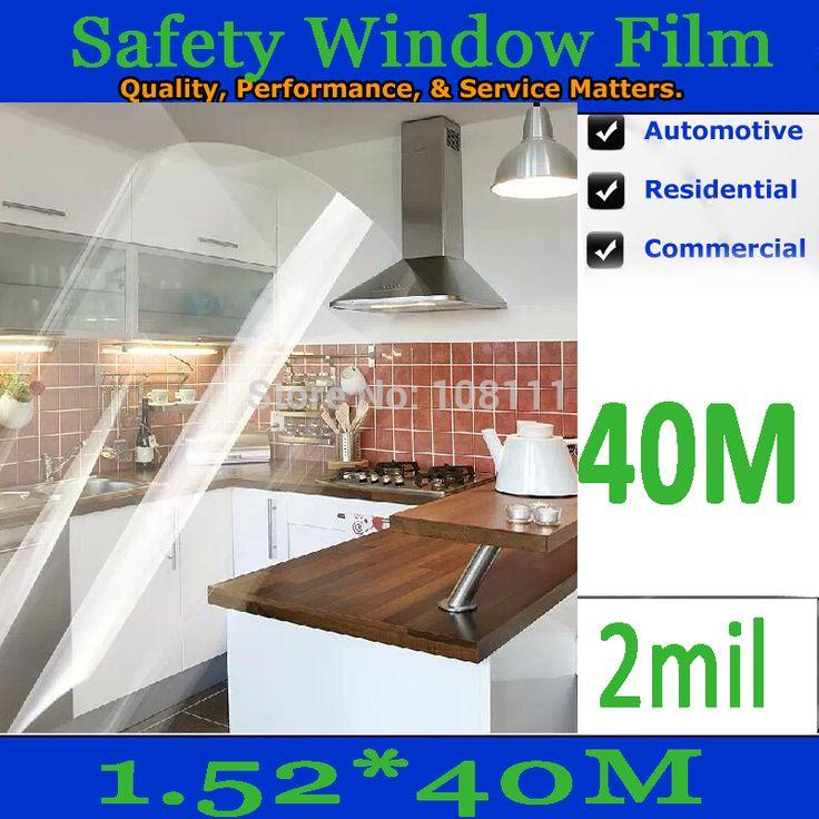 Безопасности и Безопасности Оконные Пленки, Защита Оконная Пленка 1.52*40 М 5 * 131ft-2mil (0.05 мм)-SP-O2