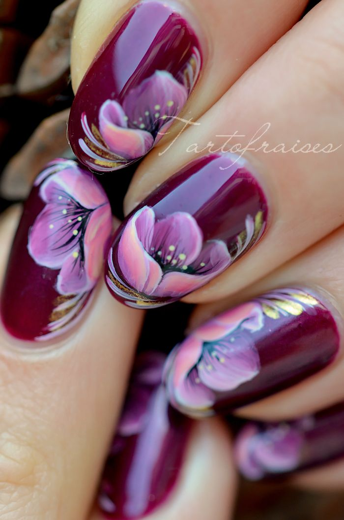 fleur nail art