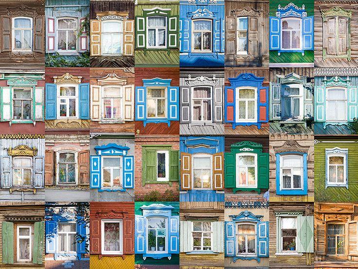El fotógrafo Iván Havizov tiene miles de fotos de distintos tipos de jambajes de ventanas, procedentes de 20 regiones rusas. Iván comenzó su colección con las ventanas de ENGELS, región de Sarátov, hace unos años. Los jambajes son adornos que enmarcan las ventanas. Sobresalen desde el alféizar de alrededor.