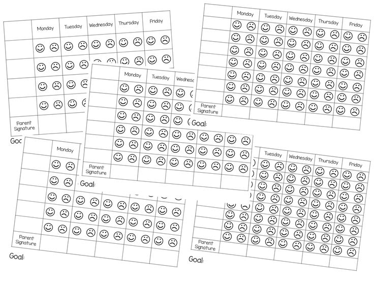 Behavior charts simple forms to fill out each day for behavior