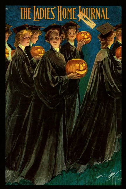 Harrison Fisher Halloween cover for The Ladies' Home Journal