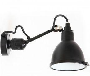Badezimmer-Wandlampe N° 304 mit Kugelgelenk von Lampe Gras, Bild 1: Badezimmer-Wandlampe mit Gelenk, N°304, mit Schutzscheibe aus Borosilikatglas, IP 64