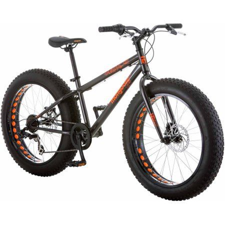 "24"" Mongoose Logan Boys' All-Terrain Fat Tire Bike, Gray - Walmart.com"