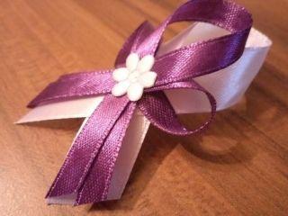 Svadobné pierko biela+ fialová
