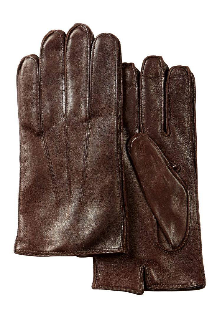 John varvatos leather driving gloves - Nappa Gusset Edge Leather Gloves