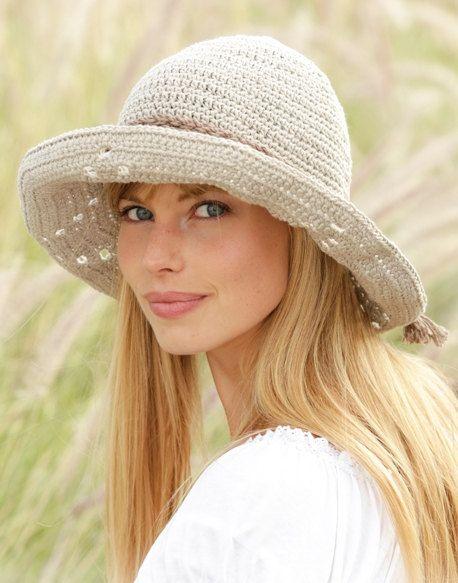 Summer hat Sun hat Womens Beach hat Spring hat Cotton hat