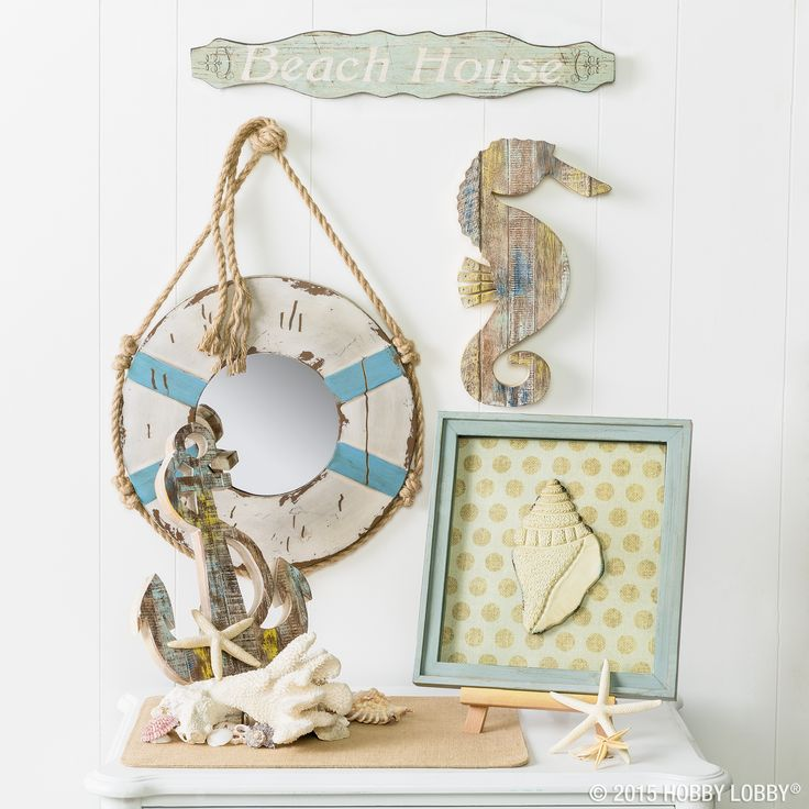 149 best nautical home decor images on pinterest beach for Home decor hobby lobby