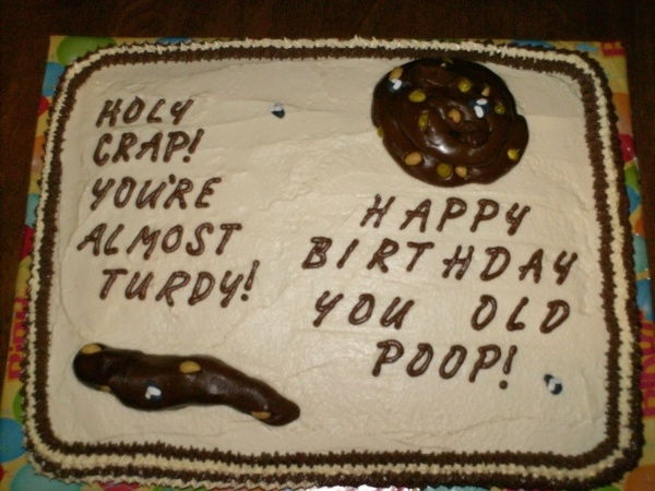 Almost turdy poop cake