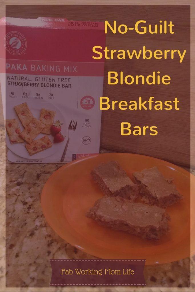 No-Guilt Strawberry Blondie Breakfast Bars