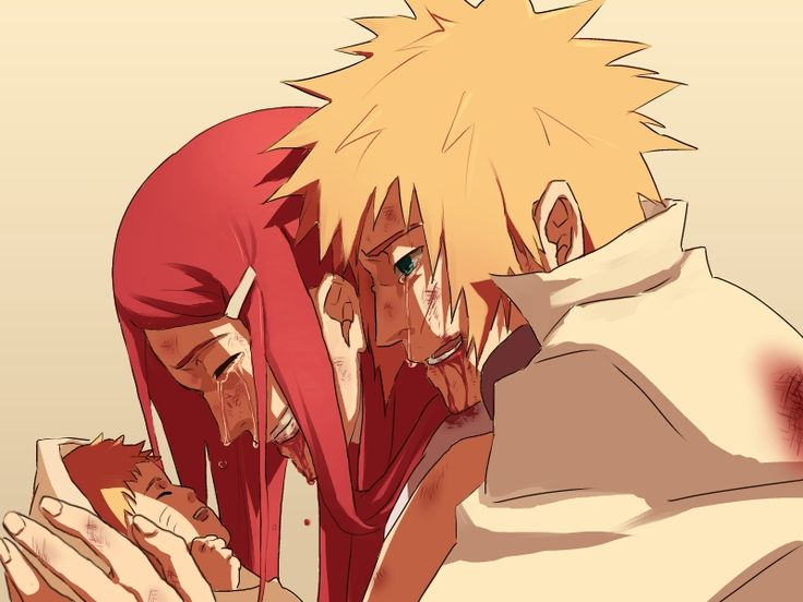 Naruto 30 Day Challenge. Day 27: scene that made you cry: Minato and Kushina's death. T_T it was so sad and i wish they were alive. They would have been awesome parents. *sobs in the corner*