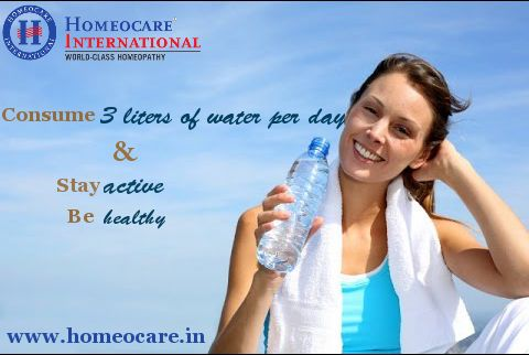 Do you know?? drinking more water helps to prevent dehydration. So, Know how much water to consume daily to stay active and healthy.  Visit Us @ www.onlinehomeocare.com
