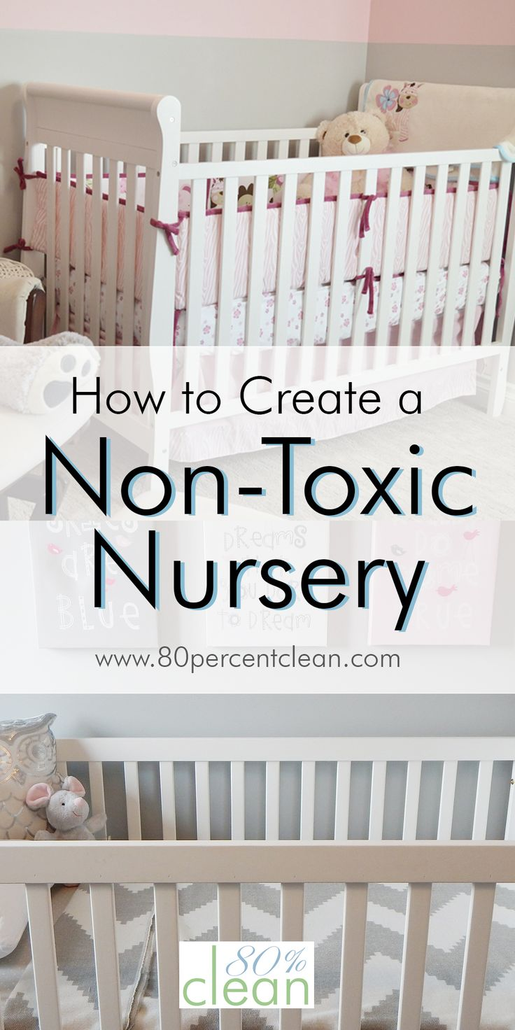 How to easily create a safe, non-toxic nursery. Where to start and what products to buy, including a non-toxic crib, mattress, bedding and paint. non toxic nursery.