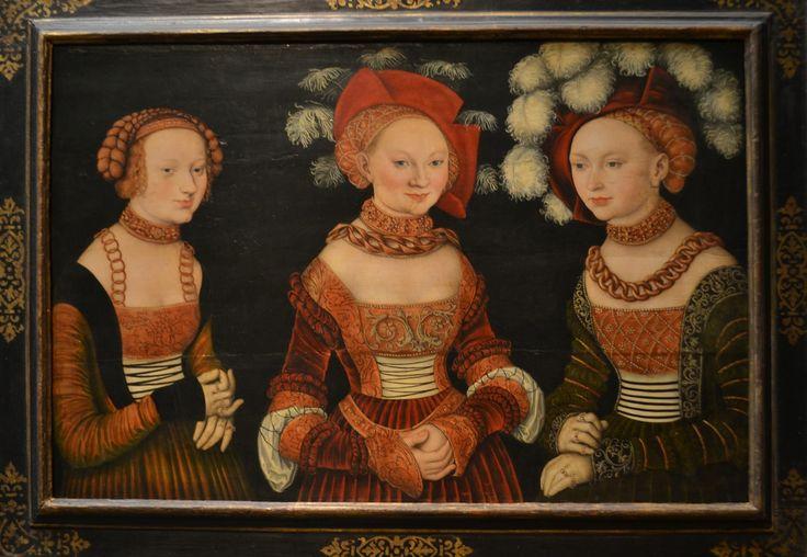 Sibylla, Emilia and Sidonia von Sachsen Princesses of Saxony, a. 1535, Lucas Cranach the Elder