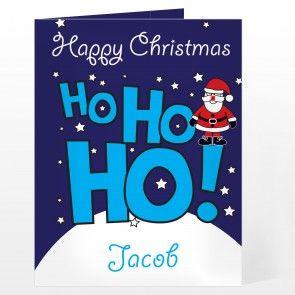 Personalised Ho Ho Ho Santa Card