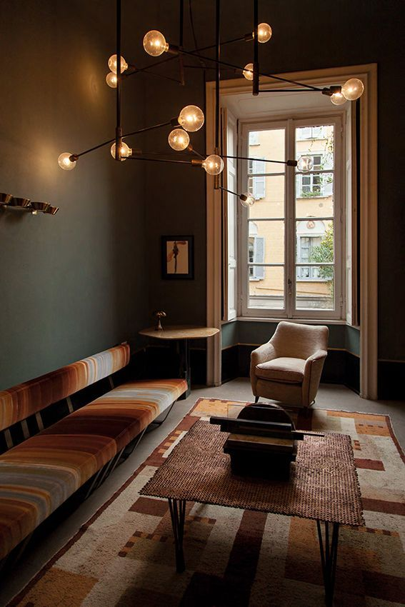 30+ Elegant Dark Living Room Paint Ideas Dimore Studio Pinterest