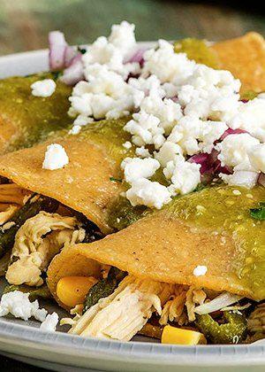 Receta de enchiladas de pollo y rajas de poblano Recetas económicas de la cocina mexicana