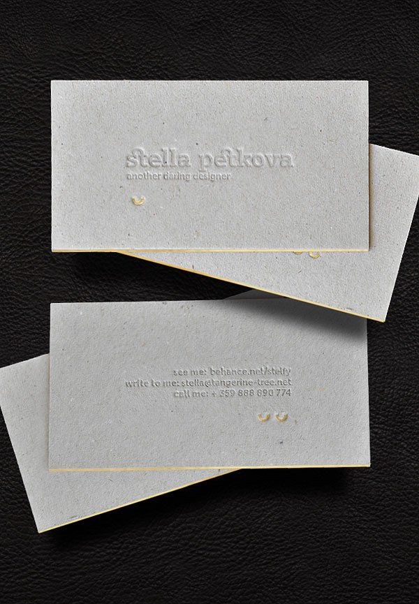 21 best business card ideas images on pinterest embossed business 30 incredible letterpress business card examples reheart Image collections