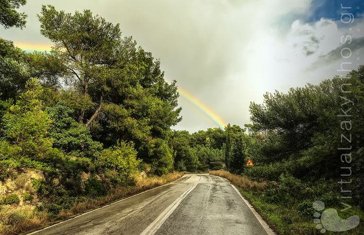 Rainbow! Zakynthos island nature view!